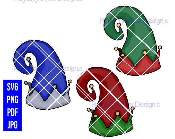 ELF HAT 3 Bundle, svg, png, pdf, jpg, digital download, printable