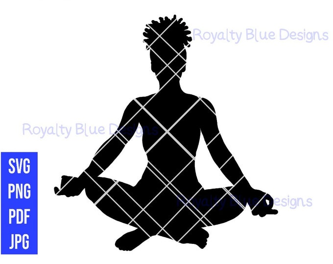 META, meditation yoga, svg, png, pdf, best, afro locs puff hair, fitness goals, natural roots, african, cut file digital download, instant