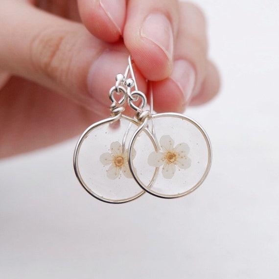 Resin Earrings Leaves Earrings Real Flower Earrings Drop Earrings Maple Leaf Pressed Flower Earrings Natural Style Gift For Her