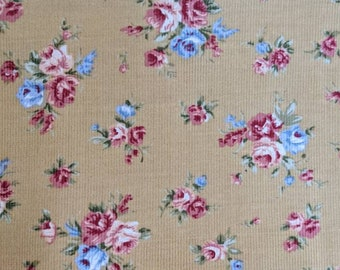 Floral Needlecord Fabric Sold Per Metre