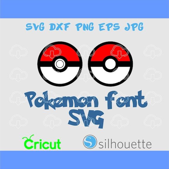 Pokemon Pokeball svg,Pokemon svg,svg png eps dxf jpg,Clip Art for Die Cut  Machines like Cricut and Silhouette,Cut File Pokemon Cuttable