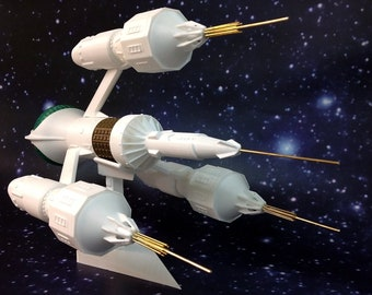 """Blakes 7 Liberator Model Kit with Brass Nacelles - Small 12"""" (30 cm) long"""