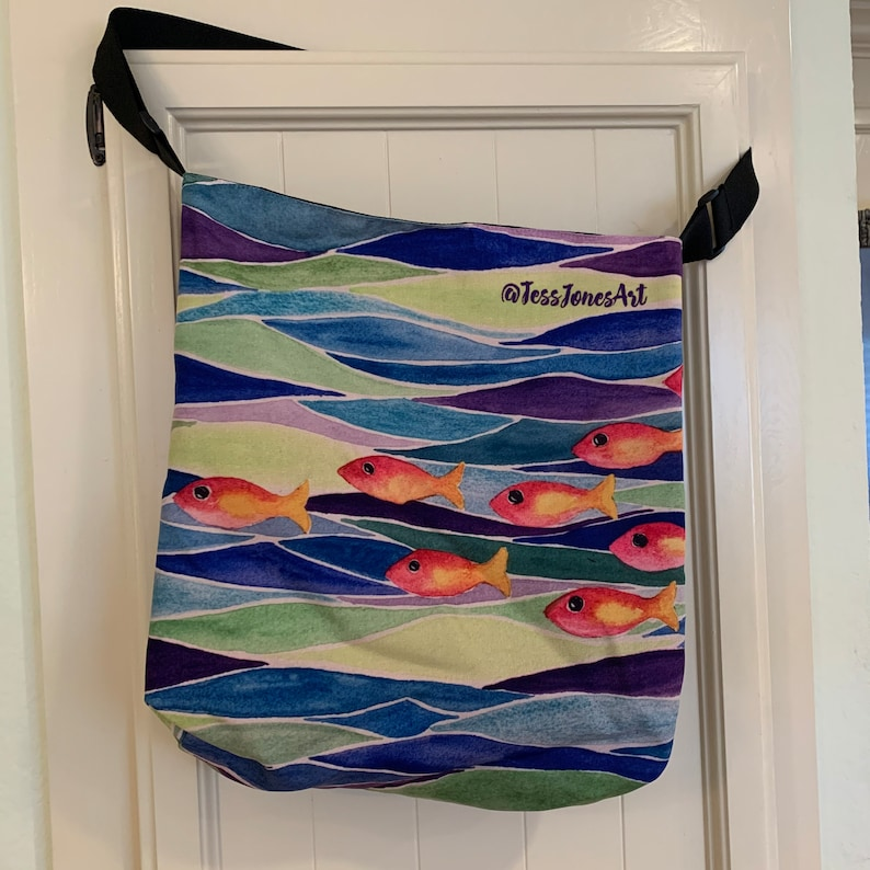Stained Glass Fish Tote Bag