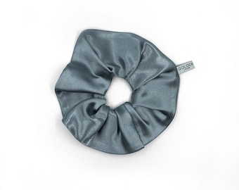 CLASSIC Chouchou - Scrunchy - Vintage Satin - Blue Grey