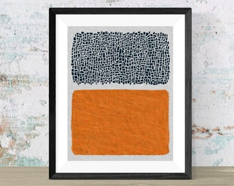 Abstract canvas art print of organic and geometric forms / Modern abstract and minimal wall art print
