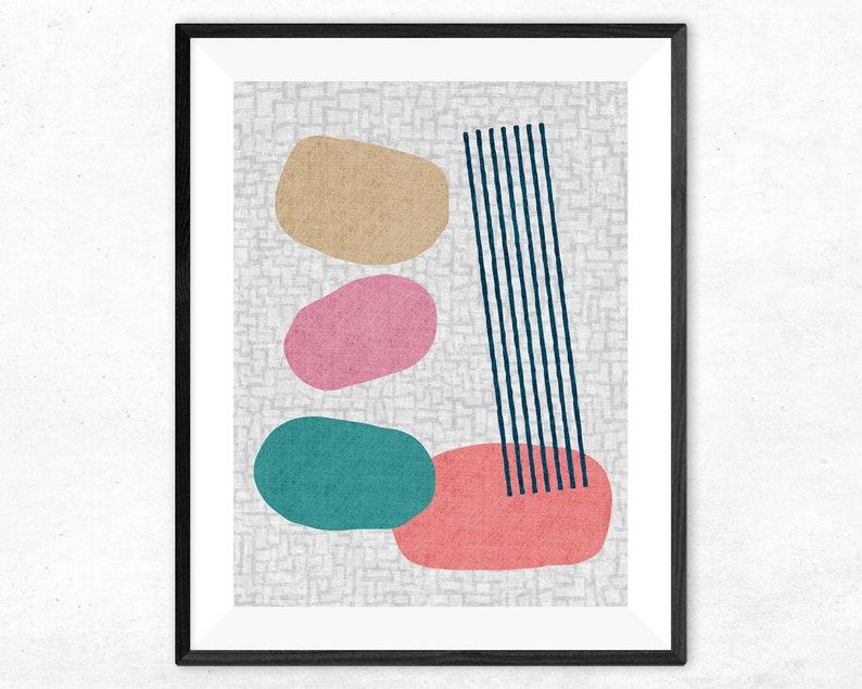 Modern Art Print Geometric art print Minimal décor design image 0
