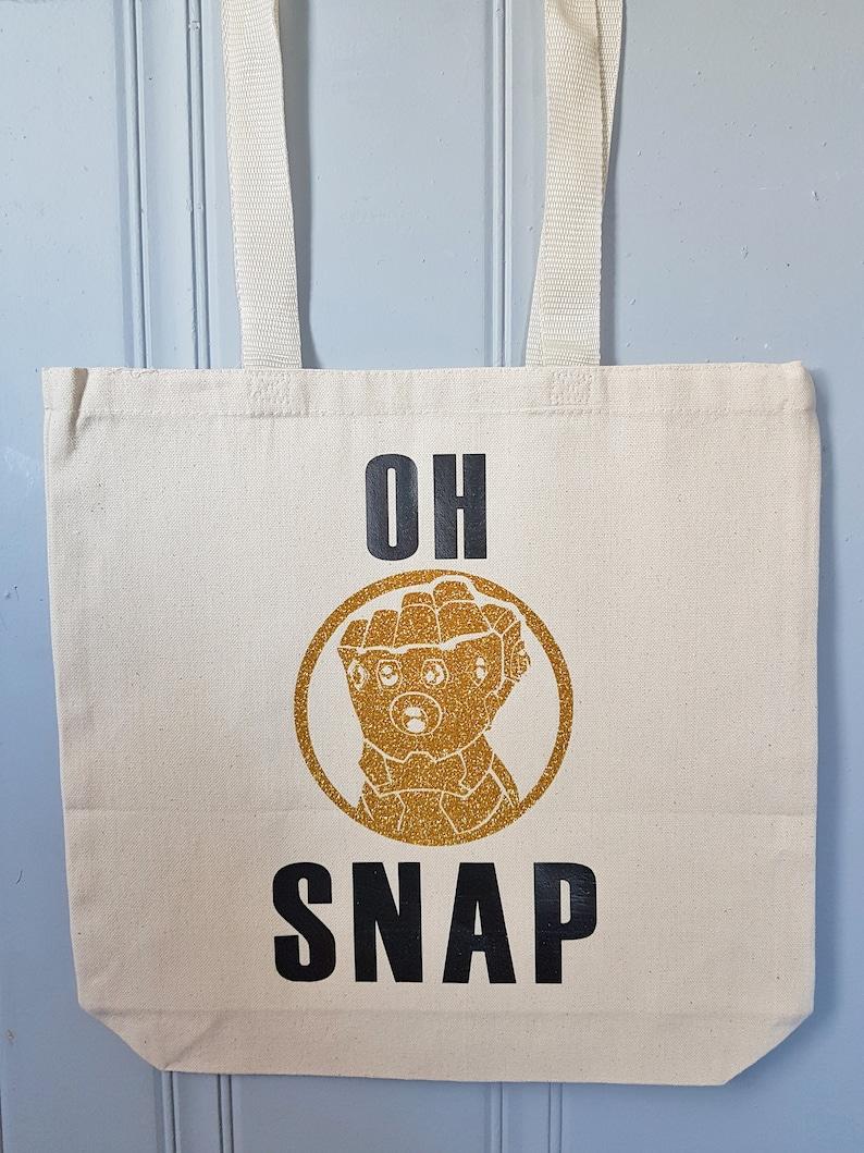 Marvel Tote Bag Avengers Tote Bag DIsney Bag Disney Tote Bag OH SNAP
