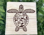 Sea Turtle Engraved Wooden Chest - Beautiful Ocean Chest - Personalized Trinket Box - Keepsakes - Gift Box - Limited Edition Turtle Treasure