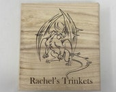 Dragon Engraved Wooden Chest - Beautiful Crystal Chest - Personalized Trinket Box - Keepsakes - Gift Box - Limited Edition Adorable Treasure
