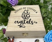 Crystal Engraved Wooden Chest - Beautiful Crystal Chest - Personalized Trinket Box - Keepsakes Gift Box - Limited Edition Adorable Treasure