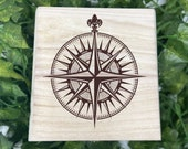 Compass Rose Engraved Wooden Chest - Beautiful Crystal Chest - Personalized Trinket Box - Keepsakes - Gift Box - Limited  Adorable Treasure
