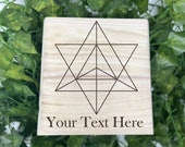 Sacred Cube Geometry Engraved Wooden Chest - Beautiful Crystal Chest - Personalized Trinket Box - Keepsake Gift Box -  Adorable Treasure