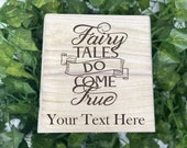 Fairy Tales Engraved Wooden Chest - Beautiful Crystal Chest - Personalized Trinket Box Keepsake Gift Box - Limited Edition Adorable Treasure