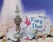 Fairy Dust in Peridot Crystal Glass Bottle - Fairy Dust Gift Collection  Shimmering Body Dust - All Natural Fairy Dust