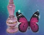 Rose Quartz Bottle - Crystal Perfume Bottle - Crystal Potion Bottle - Vintage Perfume - Glass Vial - Limited Edition - Numbered Series