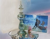 Mermaid Tears Collection - Seashells - Mermaid Bottle - Silver Dolphin Necklace - Bottled Ocean - Sea Gift - Magical Mermaid - Fantasy Siren