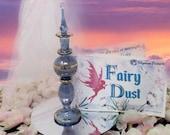 Fairy Dust in Sapphire Crystal Glass Bottle - Fairy Dust Gift Collection Story Booklet - Shimmering Body Dust - All Natural Fairy Dust