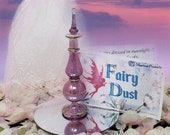 Fairy Dust in Pink Quartz Crystal Glass Bottle - Fairy Dust Gift Collection - Crystal Charm  Shimmering Body Dust - All Natural Fairy Dust