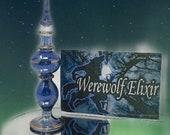 Werewolf Elixir - Crescent Moon Necklace - Werewolf Book - Body Shimmer Dust - Sandalwood Scent - Story Book - Fantasy Gift