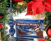 Reindeer Wishes Bottle - Stocking Stuffer - Christmas Holiday Gift - Body Shimmer Dust - Christmas in a Bottle - Gift Set