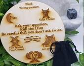 Fairy Fortune Board Game - Fairy Questions - Future Telling - Sleepover Game - Exclusive - Magic Fairy Board - Fortune Dice - Soapstone