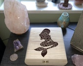 Mermaid Engraved Wooden Chest - Beautiful Crystal Chest - Personalized Trinket Box - Keepsake Gift Box - Limited Edition Adorable Treasure