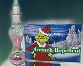Grinch Repellent - Holiday Cheer - Christmas Stocking Stuffer - Holiday Bottle Set - Shimmer Cheer Dust