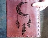 Dream Catcher Custom Journal - Beautiful Leather Diary Journal Custom Designed Renaissance Book Vintage Notepad  Dream Journal - Unlined