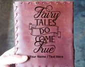 Leather Journal - Magical Fairy Tale Journal - Fairy Tale Story Book -  Diary - Poetry Book - High Quality Leather Diary - Engraved Leather