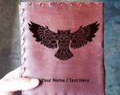 Owl Mandala  Renaissance Journal - Ornate Owl Journal - Custom Wisdom Diary Book - Vintage Astrology Notepad - Thought Journal Notebook Gift