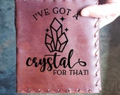 Crystal Custom Journal - Beautiful Leather Diary Journal Custom Designed Renaissance Book Vintage Notepad  Dream Journal - Unlined Engrave