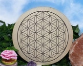 Flower of Life - Crystal Recharging - Sacred Geometry - Crystal Grid - Wooden Crystal Wall Decor - Beautiful Design - Hand Carved - Large