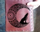 Wolf Moonlight Custom Journal - Beautiful Leather Diary Journal Custom Designed Renaissance Book Vintage Notepad  Dream Journal - Unlined