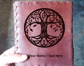 Tree of Life Renaissance Journal - Beautiful Leather Tree Journal Eternity Book - Vintage Nature Diary Notepad - Mystical Lore Journal