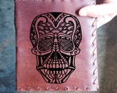 Skull Mandala Custom Journal - Beautiful Leather Diary Journal Custom Designed Renaissance Book Vintage Notepad  Dream Journal - Unlined