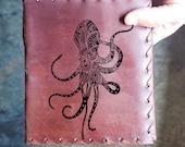 Octopus Custom Journal - Beautiful Leather Diary Journal Custom Designed Renaissance Book Vintage Notepad  Dream Journal - Unlined Engrave