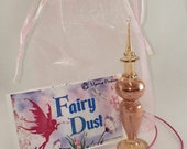 Fairy Dust in Citrine Crystal Glass Bottle - Fairy Dust Gift Collection - Crystal Charm  Shimmering Body Dust - All Natural Fairy Dust