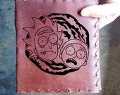 Portal Rick n Morty Custom Journal - Beautiful Leather Diary Journal Custom Designed Renaissance Book Vintage Notepad  Dream Journal Unlined