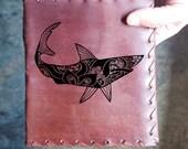 Shark Ocean Custom Journal - Beautiful Leather Diary Journal Custom Designed Renaissance Book Vintage Notepad  Dream Journal - Unlined
