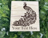 Peacock Engraved Wooden Chest - Beautiful Crystal Chest - Personalized Trinket Box - Keepsake Gift Box - Limited Edition Adorable Treasure