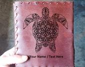 Turtle Mandala Journal - Beautiful Sea Turtle Journal - Diary Ocean Book - Vintage Turtle Notepad - Mermaid Lore Journal - Gift Notebook