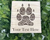 Paw Mandala Engraved Wooden Chest - Beautiful Crystal Chest - Personalized Trinket Box - Keepsake Gift Box - Limited Adorable Treasure