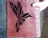 Hummingbird Custom Journal - Beautiful Leather Diary Journal Custom Designed Renaissance Book Vintage Notepad  Dream Journal - Unlined