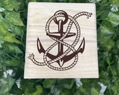 Ship's Anchor Wooden Chest - Beautiful Crystal Chest - Personalized Trinket Box - Keepsakes - Gift Box - Limited Edition Adorable Treasure