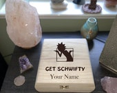 Rick N Morty Engraved Wooden Chest - Beautiful Crystal Chest Personalized Trinket Box Keepsake Gift Box - Limited Edition Adorable Treasure