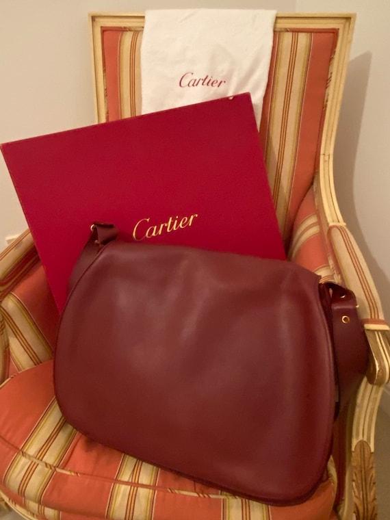 Vintage unused @cartier messenger crossbody bag