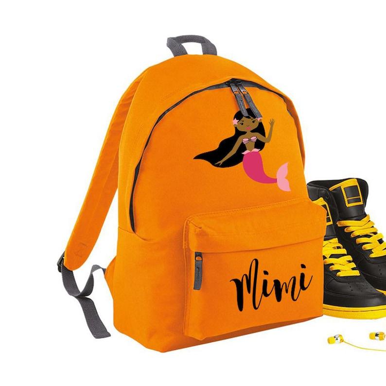 Personalised Rucksack School Bag Personalised Backpack Kids Bag Personalised Mermaid Kids Backpack Kids Rucksack