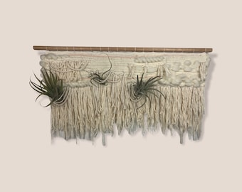 Air Plant Hanger. Woven Wall Hanging