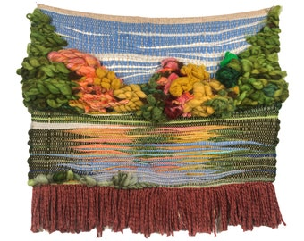 """Customize your own* Landscape Woven Wall Hanging. 32"""" wide. You choose landscape. Custom"""