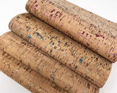 Cork print leather sheets. Colors Gold. Silver. Blue. Pink Cork sheets 8x11 and 8x5.5. Leather craft sheets cork leather sheets photo